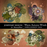 Warm Autumn Winds Scatters Pack-$1.79 (Jumpstart Designs)