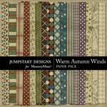 Warm Autumn Winds Paper Pack 2-$2.99 (Jumpstart Designs)