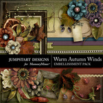 Warm Autumn Winds Embellishment Pack 2-$2.99 (Jumpstart Designs)