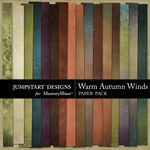 Warm Autumn Winds Paper Pack Add On-$3.99 (Jumpstart Designs)
