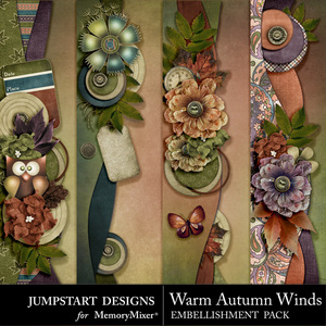 Warm autumn winds borders medium