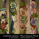 Warm autumn winds borders small