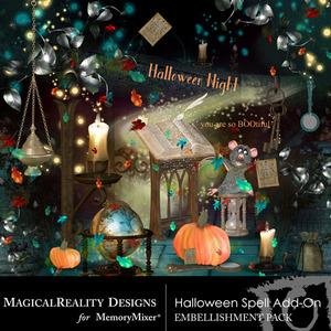 Halloween spell add on emb medium