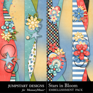Stars in bloom borders medium