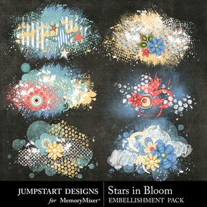 Stars in bloom scatters medium