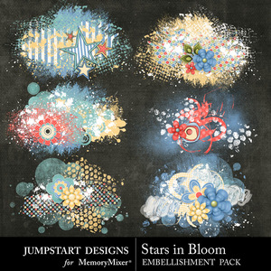 Stars in bloom scatters medium