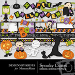 Spooky Cuties Embellishment Pack-$2.99 (Designs by Krista)