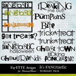 Its FANGtastic WordArt Pack-$2.49 (Fayette Designs)