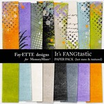 Its FANGtastic Hot Mess and Textured Paper Pack-$3.99 (Fayette Designs)