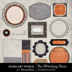 The Witching Hour Tag Pack-$2.99 (Word Art World)
