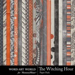The Witching Hour Paper Pack 2-$2.00 (Word Art World)