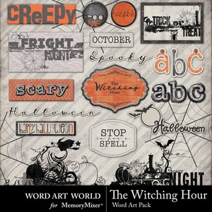 The witching hour wordart medium