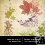 Autumn Artsy Stamp Embellishment Pack-$2.49 (Indigo Designs)