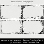 Frame Overlays Volume 1 Embellishment Pack-$2.49 (Sweet Poppy Studio)