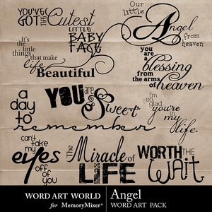 Angel wordart medium