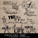 Angel wordart small