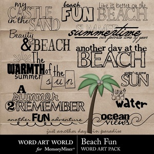 Beach fun wordart medium
