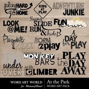 At the park wordart medium