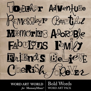 Bold words wordart medium