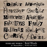 Bold Words WordArt Pack-$1.75 (Word Art World)