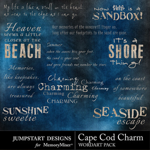 Cape cod charm wordart medium