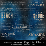Cape cod charm wordart small