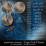 Cape Cod Charm Dates Embellishment Pack-$1.00 (Jumpstart Designs)