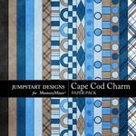Cape Cod Charm Paper Pack-$3.99 (Jumpstart Designs)