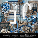 Cape Cod Charm Embellishment Pack-$4.99 (Jumpstart Designs)