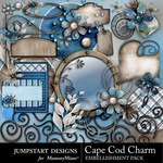 Cape Cod Charm Add On Embellishment Pack-$3.99 (Jumpstart Designs)