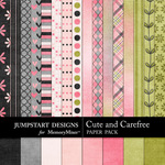 Cute and Carefree Paper Pack-$3.99 (Jumpstart Designs)