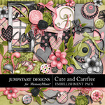 Cute and Carefree Embellishment Pack-$4.99 (Jumpstart Designs)