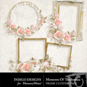 Moments of tenderness cluster frames medium