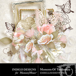 Moment of Tenderness Embellishment Pack-$2.99 (Indigo Designs)