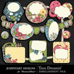 Teen Dreamin Journal Pack-$1.79 (Jumpstart Designs)