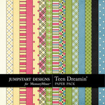 Teen Dreamin Paper Pack-$1.79 (Jumpstart Designs)