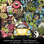 Teen Dreamin Embellishment Pack-$3.99 (Jumpstart Designs)
