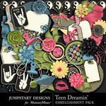 Teen Dreamin Add On Embellishment Pack-$2.39 (Jumpstart Designs)