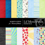 Lil Mister Pirate Paper Pack-$3.99 (Karen Lewis)