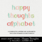 Happy Thoughts Alphabet Pack-$3.99 (Sweet Poppy Studio)
