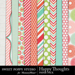 Happy Thoughts Paper Pack-$1.99 (Sweet Poppy Studio)