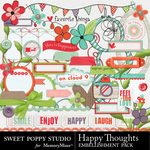 Happy Thoughts Embellishment Pack-$2.99 (Sweet Poppy Studio)