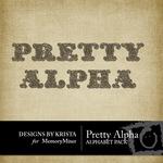 Pretty Alphabet Pack-$0.99 (Designs by Krista)