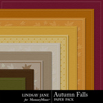 Autumn Falls Embossed Paper Pack-$1.49 (Lindsay Jane)