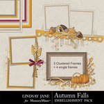 Autumn Falls Frame Embellishment Pack-$1.99 (Lindsay Jane)