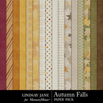 Autumn Falls Paper Pack-$3.99 (Lindsay Jane)