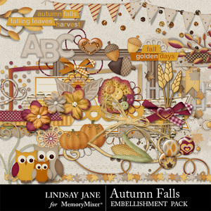 Autumn falls emb medium