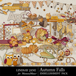Autumn Falls Embellishment Pack-$3.49 (Lindsay Jane)