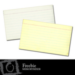 Index Card Freebie-$0.00 (Lasting Impressions)