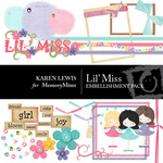 Lil' Miss Embellishment Pack-$4.00 (Karen Lewis)